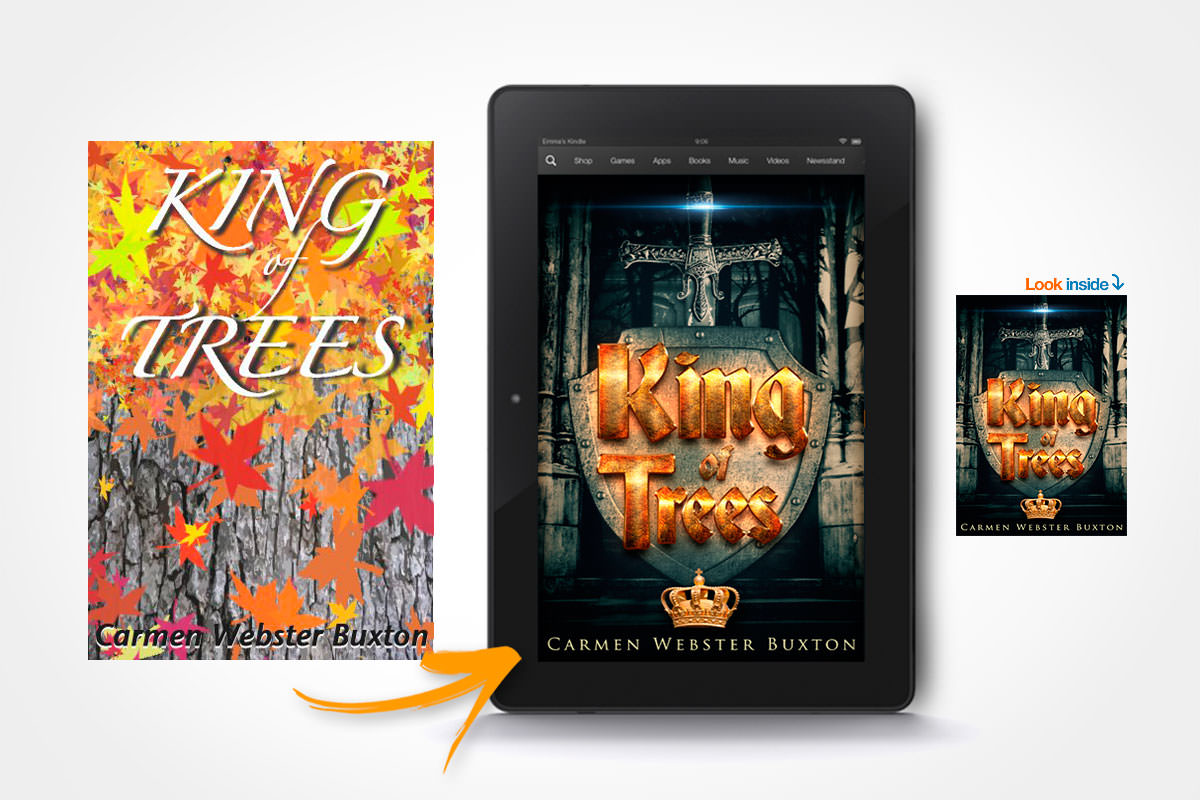 book cover redesign king of trees carmen webster