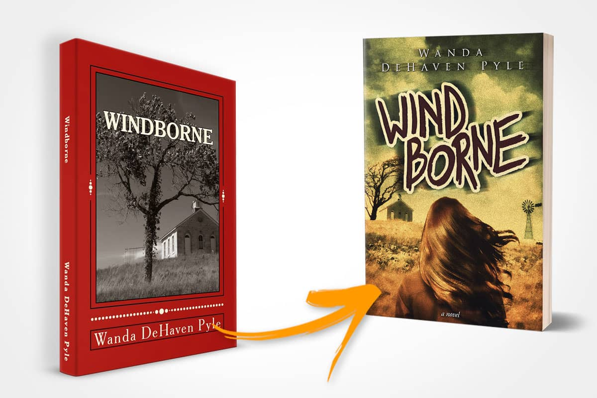 book cover redesign windborne