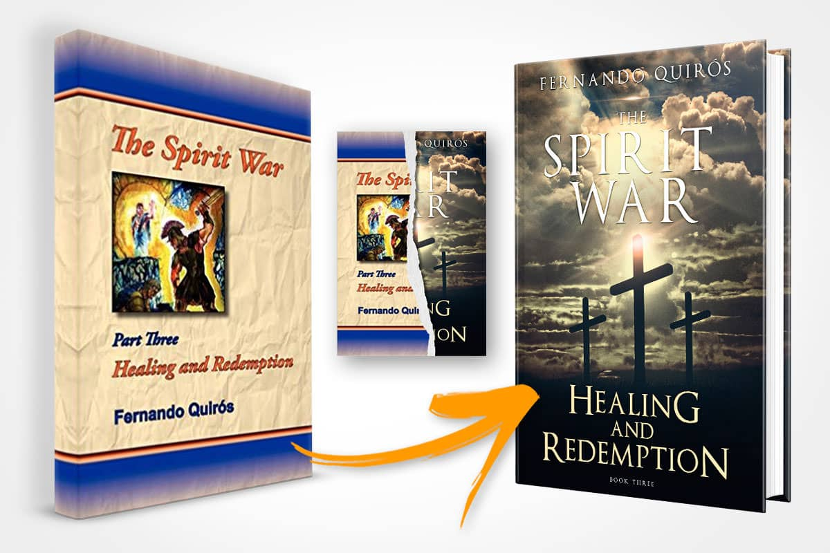 book cover redesign fernando quiros healing and redemption