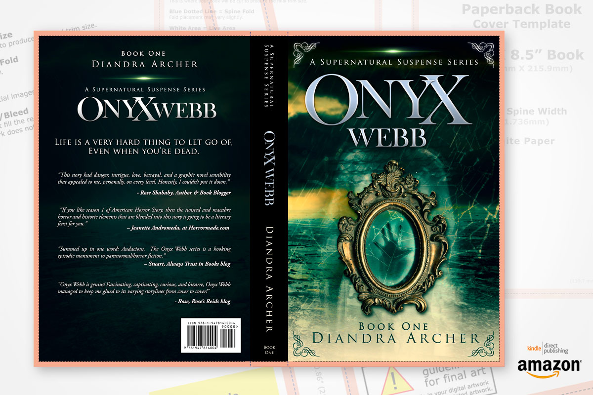 book cover redesign onyx webb book one