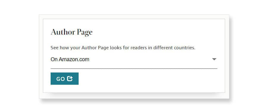 amazon author central author page