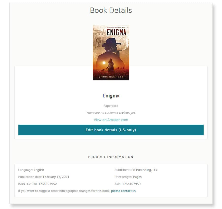 amazon author central book details