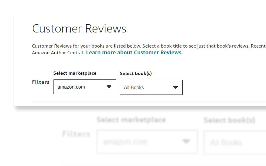 amazon author central customer reviews