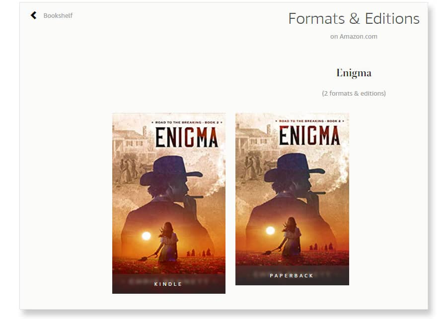 amazon author central formats
